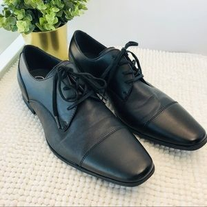 "Calvin Klein derby's black shoes ""Bachman"" size 12"